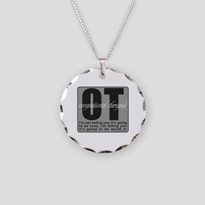 OT/Occupational Therapist Necklace Circle Charm